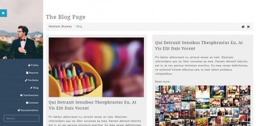 classy portfolio theme blog page