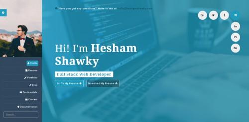 classy portfolio theme developer page