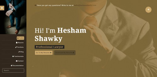classy portfolio theme lawyer page