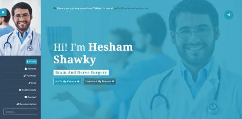 classy portfolio theme doctor page